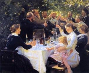 Hip, Hip, Hurrah! - 1888 - Peder Severin Kroyer -Norwegian, 1851-1909