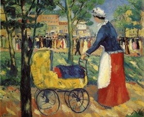 Malevich, Kazimir (Russian, 1878-1935) - On the Boulevard - 1911