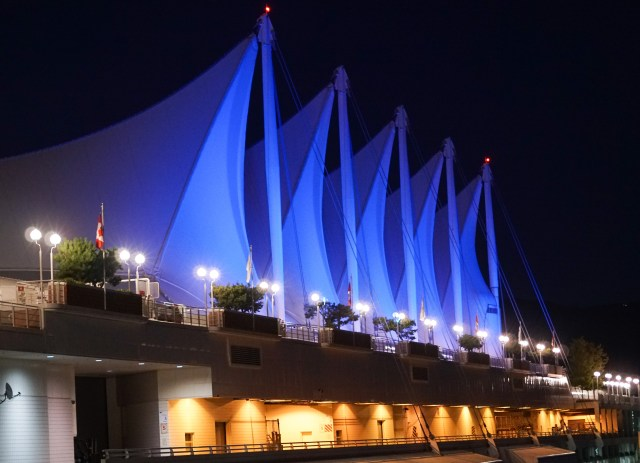 Sails of Canada Place in Vancouver BC