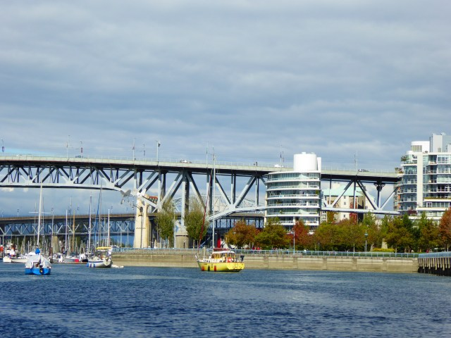 View from AquaBus on False Creek in Vancouver