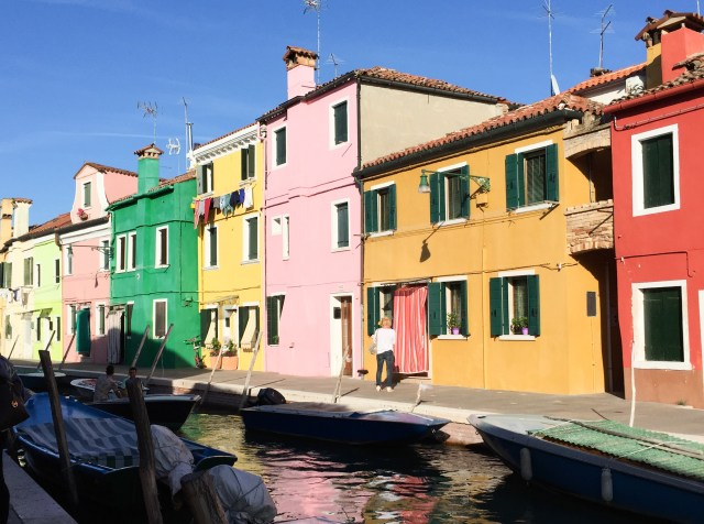 Colorful houses on Burano Island
