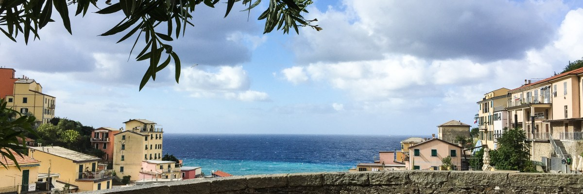 View of Riomaggiore Cinque Terre Italy