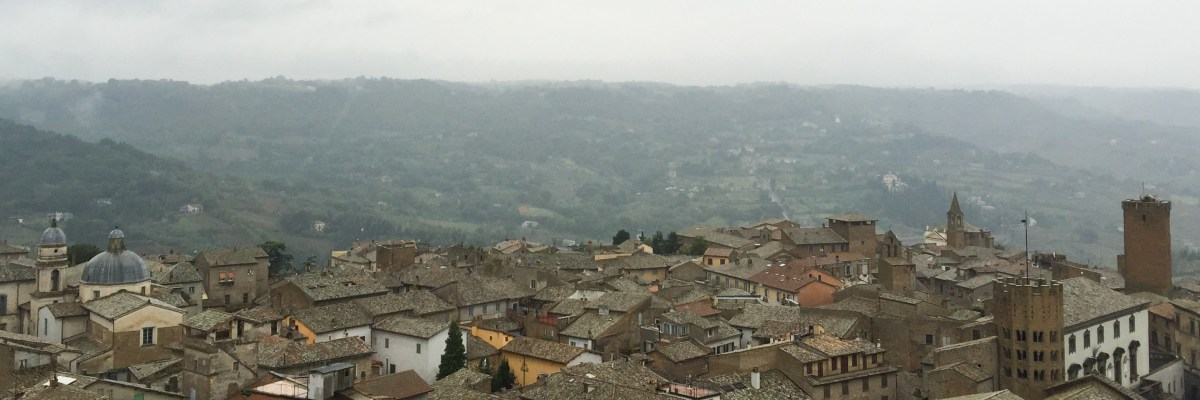 View from the Clock Tower in Orvieto Italy