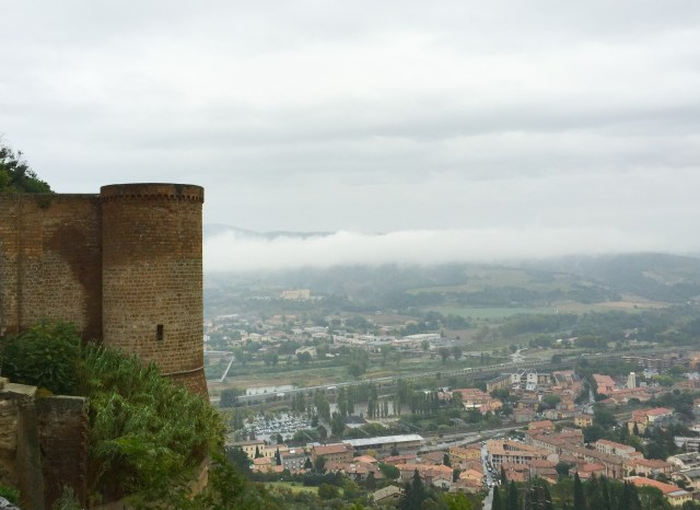 Views from the City Wall near St. Patrick's Well in Orvieto Italy