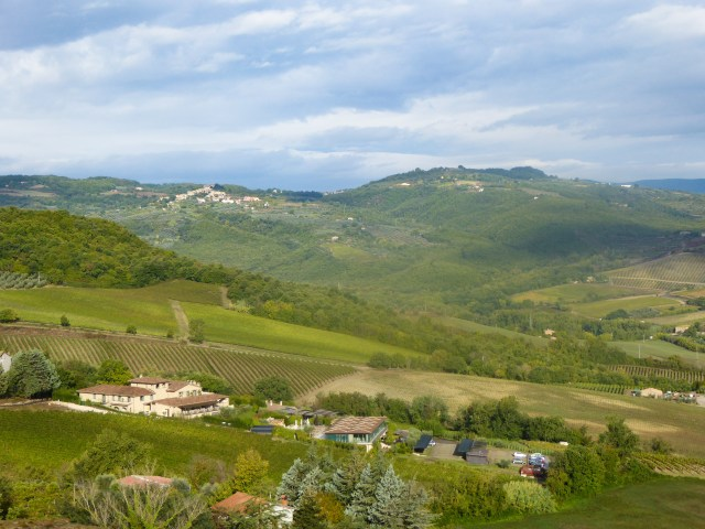 View of the Umbrian countryside from the Misia Resort