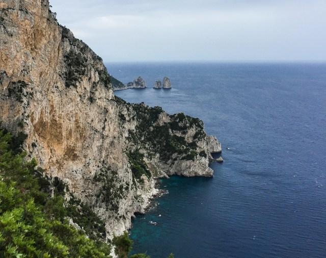 View of the Faraglioni rocks from Anacapri