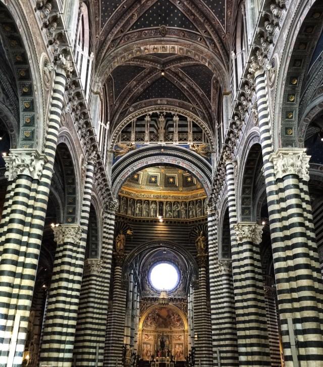 The interior of the Duomo di Siena