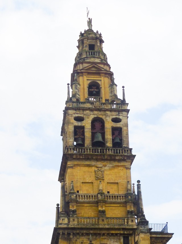 The bell tower at the Mezquita in Cordoba Spain