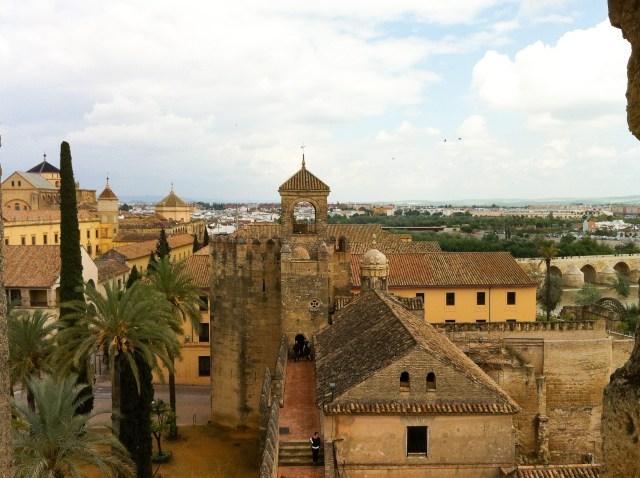 Views from the Alcazar in Cordoba Spain