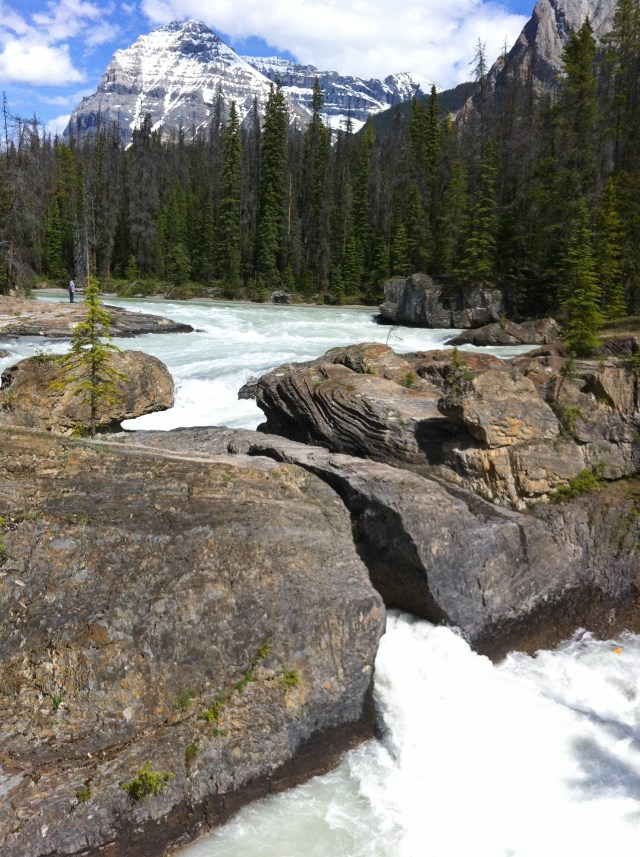 Natural Bridge over the Kicking Horse River Yoho NP BC Canada