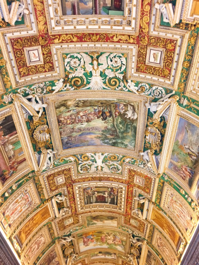 A ceiling in the Vatican Museums
