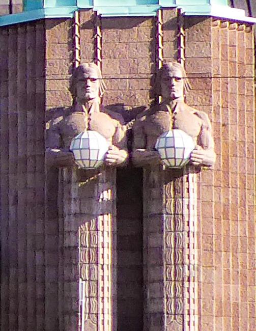 Statues at Helsinki Central Station, Helsinki,Finland