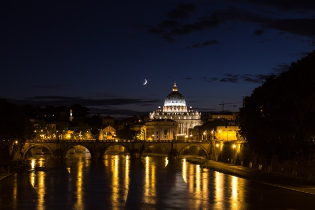 Dome of St. Peter at night