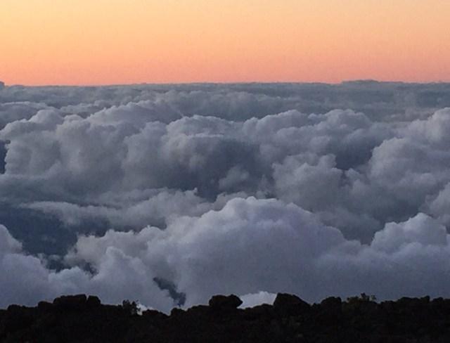 Above the clouds at Haleakala in Maui Hawaii