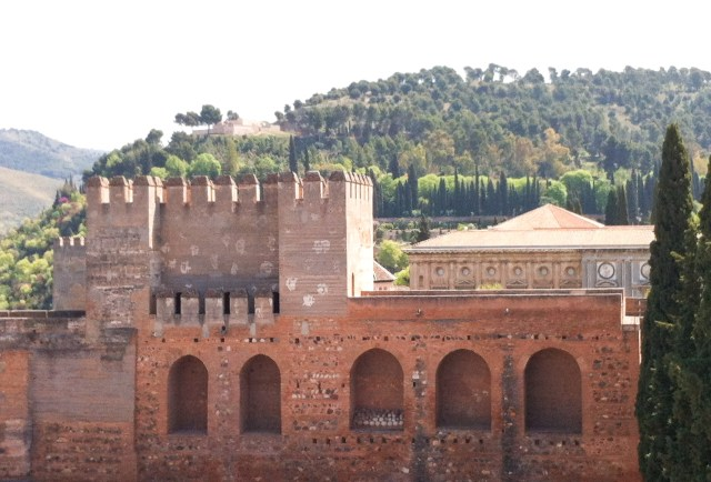 The Alcazaba at the Alhambra in Granada Spain