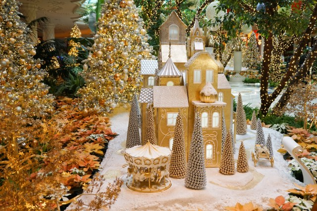 Holiday decorations at the Wynn in Las Vegas