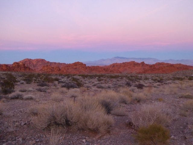 Sunset at Valley of Fire in Nevada
