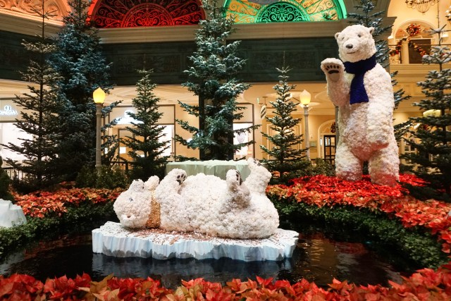 The Conservatory at the Bellagio during the holidays