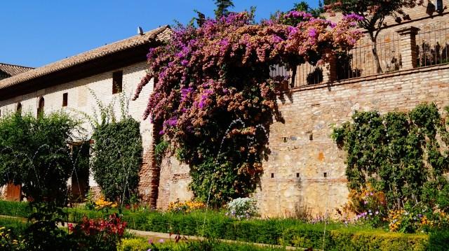 Generalife gardens in Granada Spain