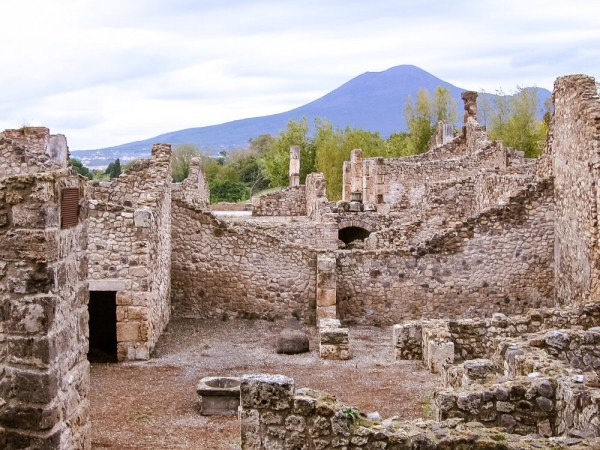 Archaeological site in Pompeii and Herculaneum Italy