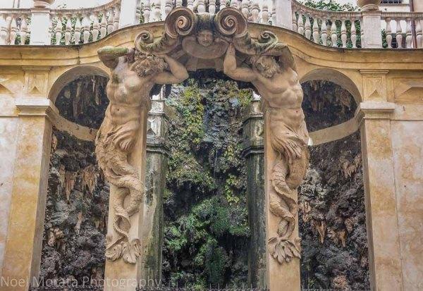 Entrance to a Palazzo on Via Garibaldi, Genoa, Italy