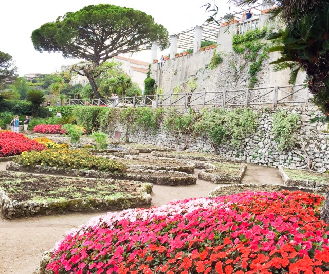 Colorful flowers at the Villa Rufulo in Ravello Italy