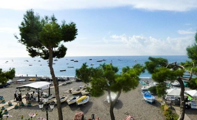 The beach at Positano on the Amalfi Coast