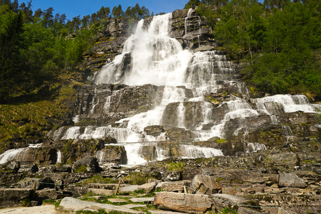 Waterfall near Eidfjord Norway