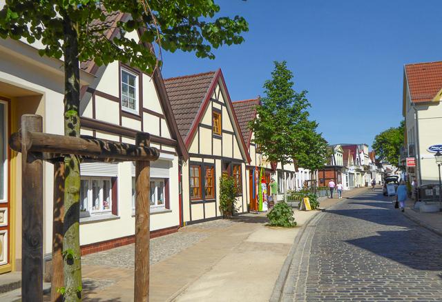 Street in Warnamunde Germany