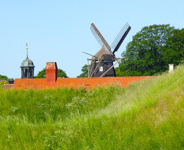 Windmill at Kastallet in Copenhagen, Denmark