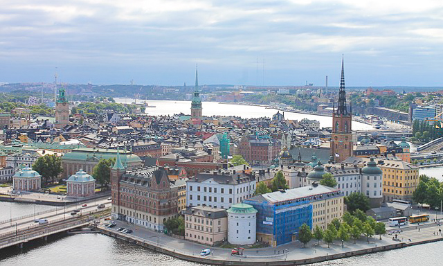 View from the City Hall tower, Stockholm, Sweden