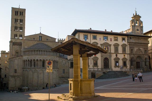 Piazza Grande Arezzo Tuscany Italy