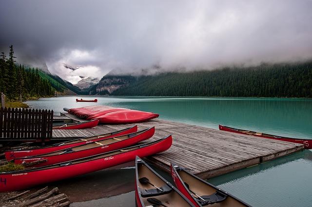 Boat Dock Lake Louise Alberta Canada