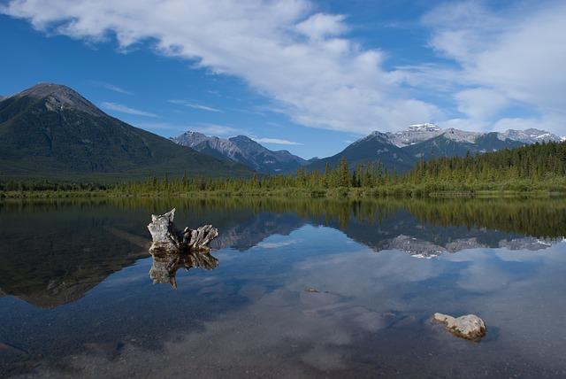 Beautiful lake in Banff National Park Alberta Canada