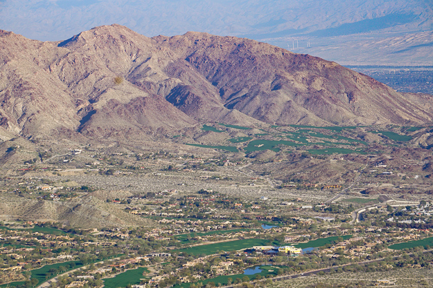 View of Coachella Valley from Vista Point on Highway 74 in Palm Desert California
