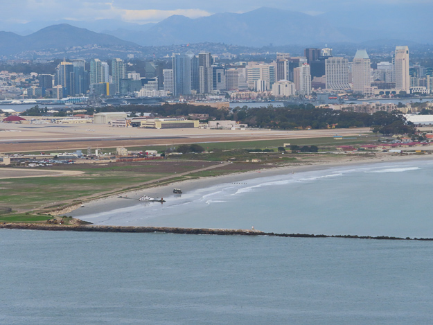View of San Diego, California, from Point Loma Peninsula