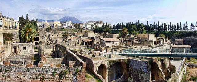 Archaeological site of Herculaneum, Italy