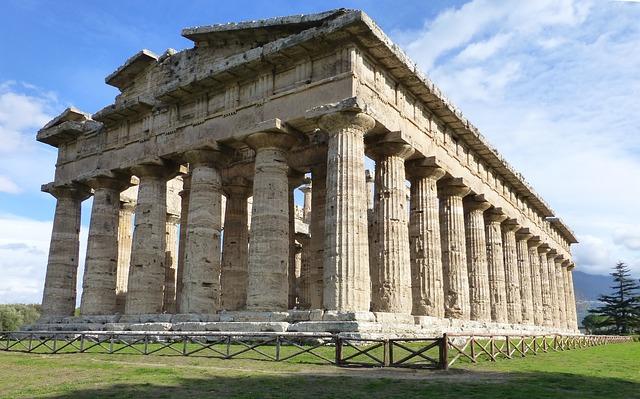 Paestum Greek Temple, Campania, Italy