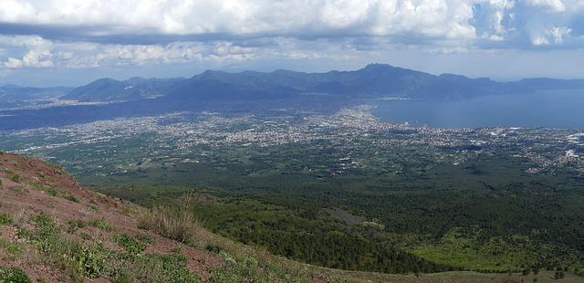 View from Mt. Vesuvius, Campania, Italy