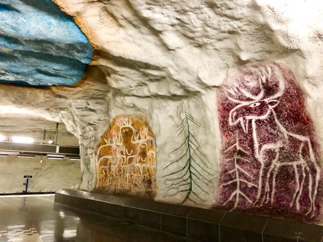 Art Tensta Subway Station Stockholm Sweden