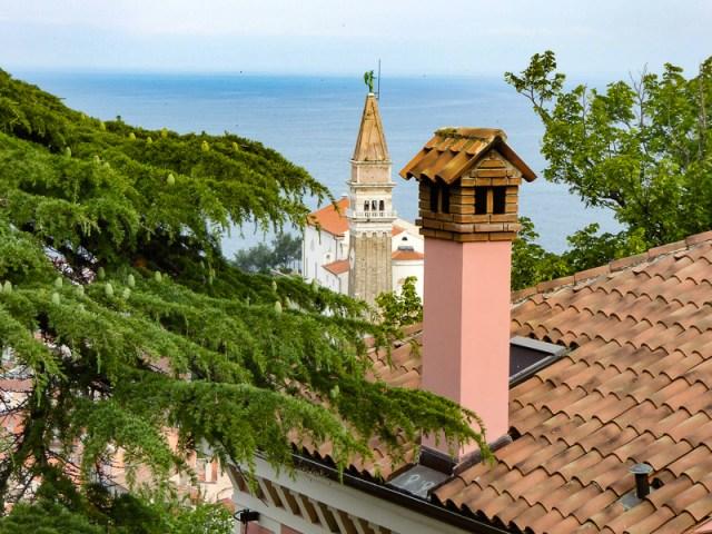Rooftop in Piran Slovenia