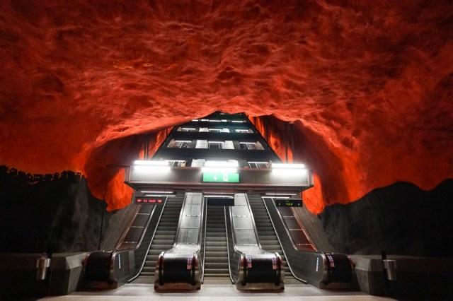 Solna Centrum Subway Art Stockholm Sweden