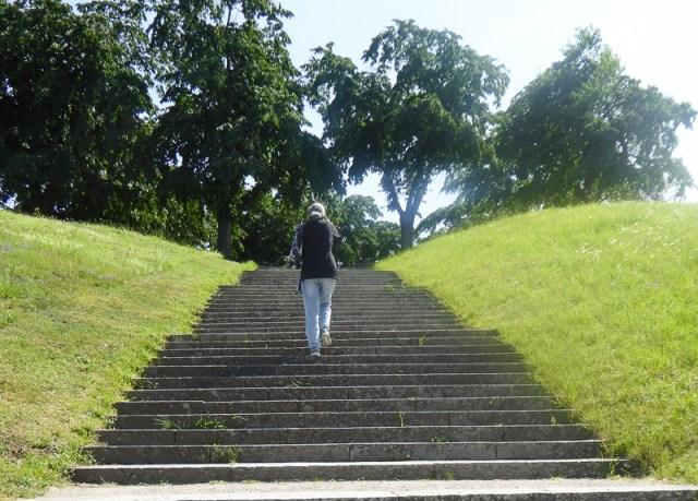 Steps Almhojden Woodland Cemetery Stockholm
