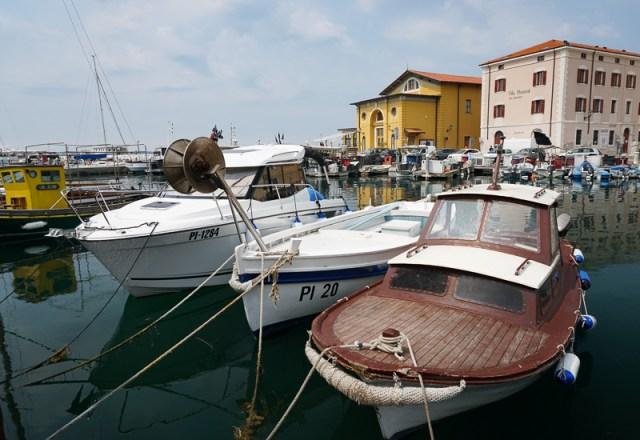 View of Piran Marina in Slovenia
