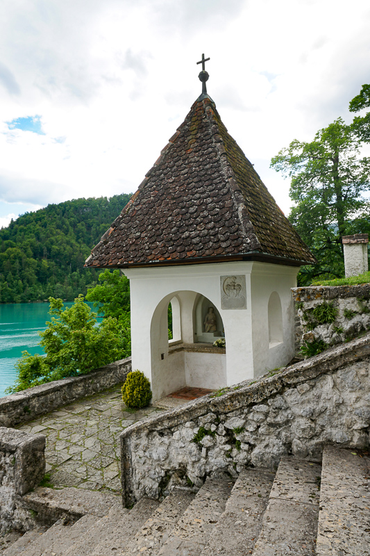 Steps Leading up to the Church on Bled Island Slovenia