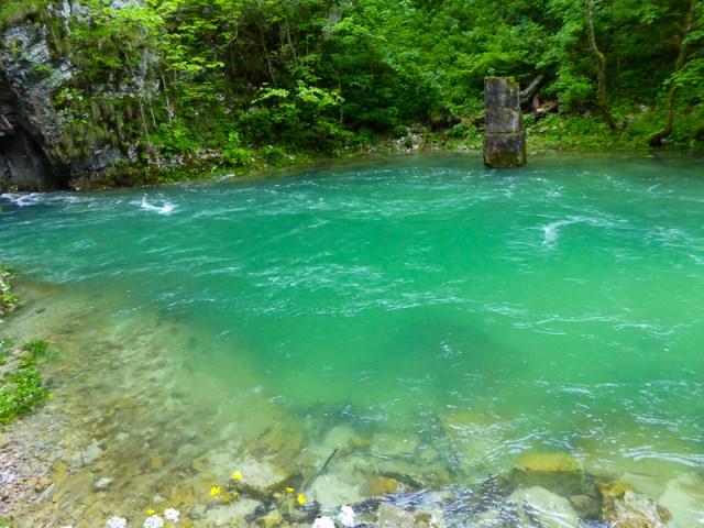 Emerald Green Radovna River in Slovenia