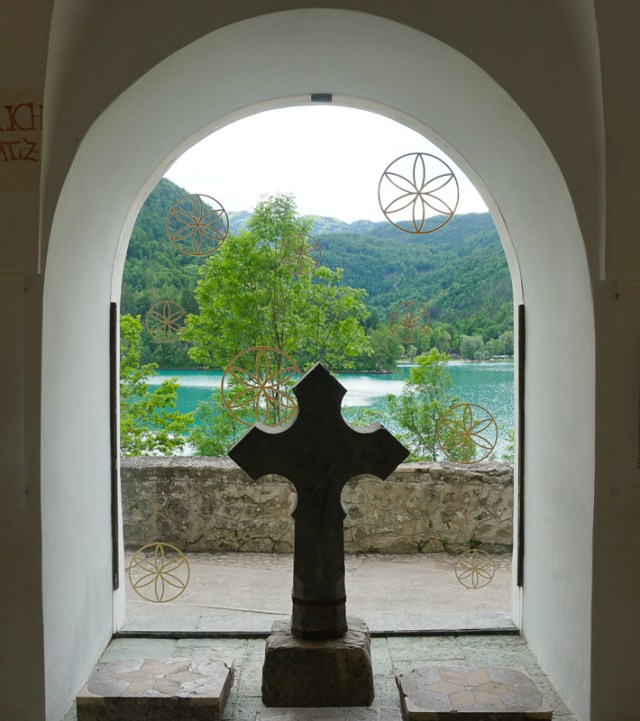 Inside the Church of the Assumption on Bled Island in Slovenia