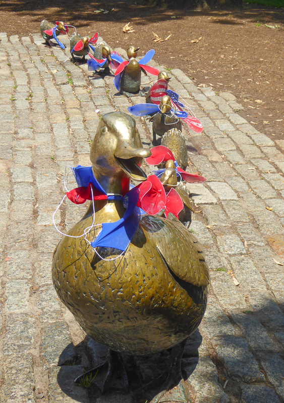 Make Way for Ducklings Statue Boston