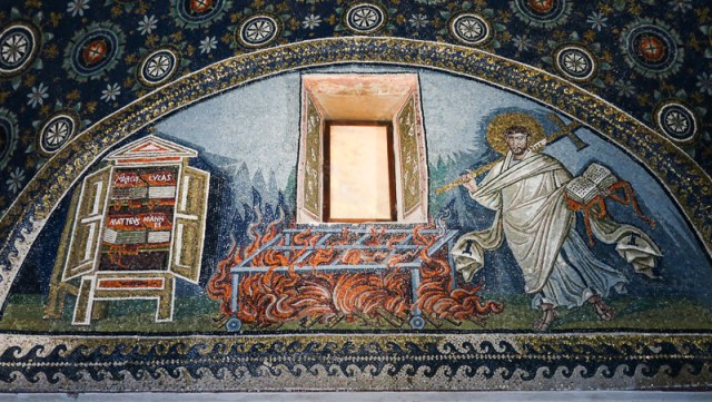 Mosiac in Mausoleum of Gall Placidia, Ravenna, Italy