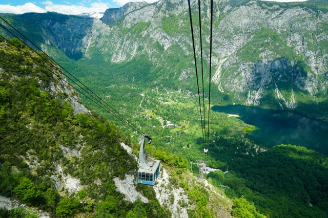 Mt. Vogel Cable Car at Ukanc in Slovenia